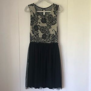 Anthropologie knit and tulle cocktail dress